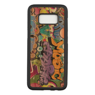 Colorful graffiti design art carved samsung galaxy s8 case