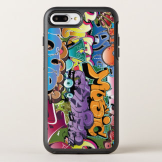 Colorful graffiti design art OtterBox symmetry iPhone 8 plus/7 plus case