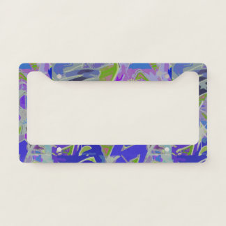 Colorful Graffiti Design License Plate Frame