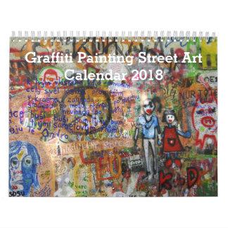 Colorful Graffiti Painting Street Art 2018 Calendar