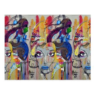 Colorful Graffiti Postcard