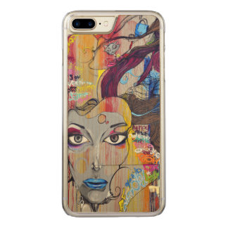 Colorful Graffiti Street Art Carved iPhone 8 Plus/7 Plus Case