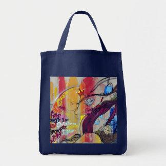 Colorful Graffiti Street Art Grocery Tote Bag