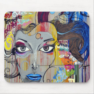 Colorful Graffiti Street Art Mouse Pad