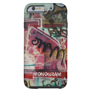 Colorful Graffiti Street Grunge Art-Monogram Tough iPhone 6 Case