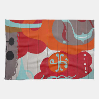 Colorful Graffiti Tea Towel