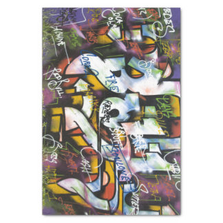 Colorful Graffiti Words Tissue Paper