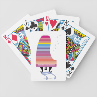 Colorful Grand Piano Bicycle Playing Cards