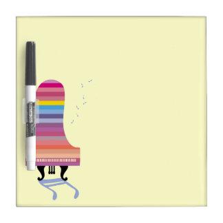 Colorful Grand Piano Dry Erase Board