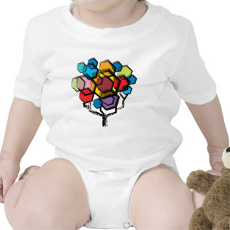 Colorful graphic Tree Baby Bodysuits