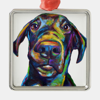 Colorful Great Dane Christmas Ornament
