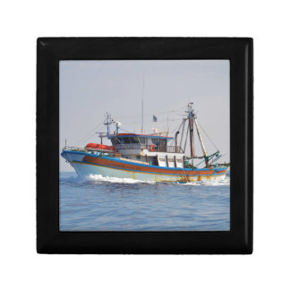 Colorful Greek Fishing Boat Gift Box