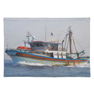 Colorful Greek Fishing Boat Placemat