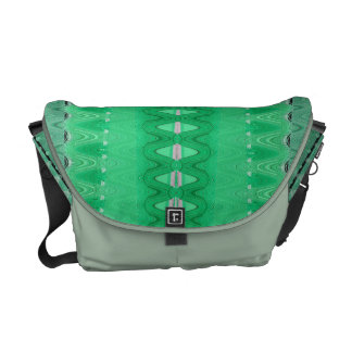 colorful green abstract design commuter bag