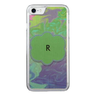 Colorful Green Blue Splash Abstract Carved iPhone 8/7 Case