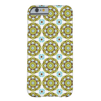 Colorful Green Brown Blue Pattern iPhone 6 case Barely There iPhone 6 Case