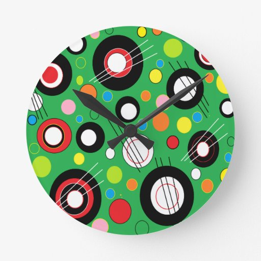 Colorful Green Round Clock