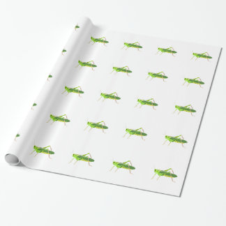 Colorful Green Grasshopper Wrapping Paper