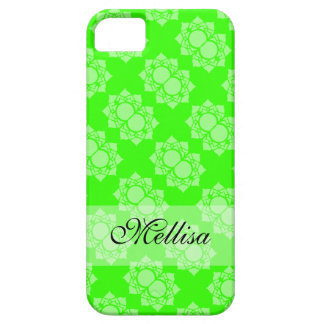 Colorful Green White Lotus Pattern iPhone 5 Cover