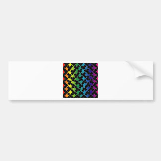 Colorful grid background bumper sticker