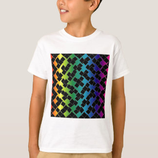 Colorful grid background t-shirts