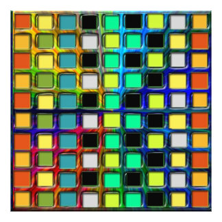 Colorful Grid-Tiled Photo Art