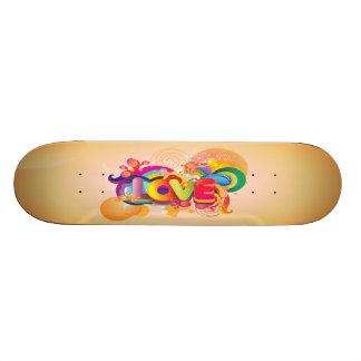 Colorful Groovy Love Skate Deck