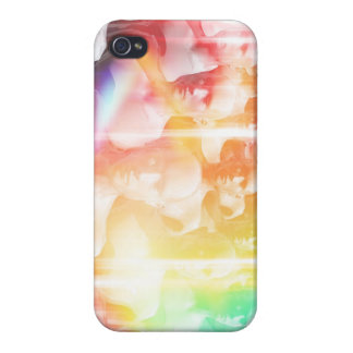 Colorful group of people cases for iPhone 4