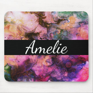 Colorful, Grunge Abstract Paint Mouse Pad