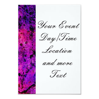 """Colorful Grunge,hot pink 3.5"""" X 5"""" Invitation Card"""