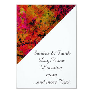 """Colorful Grunge,hot red 5"""" X 7"""" Invitation Card"""