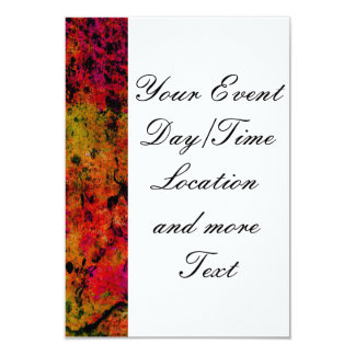 """Colorful Grunge,hot red 3.5"""" X 5"""" Invitation Card"""