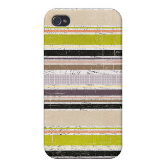 Colorful Grunge Oxford Stripes 4s  iPhone 4 Cases