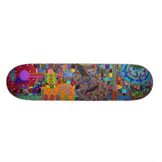 colorful guitar graphics skate board decks