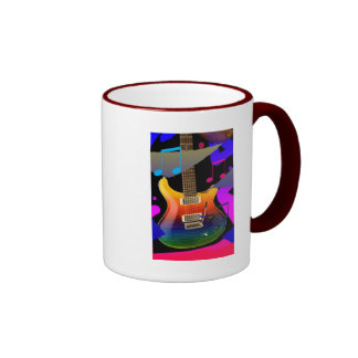 Colorful Guitar - Rock On! Mugs