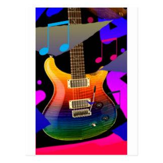 Colorful Guitar - Rock On! Postcard