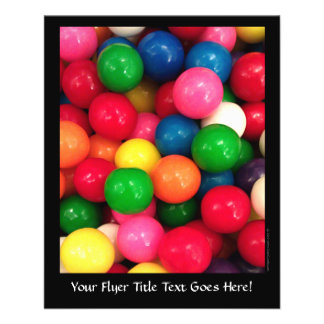 Colorful Gum Ball Candy Personalized Flyer