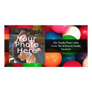 Colorful Gum Ball Candy Photo Card Template