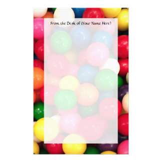 Colorful Gum Ball Candy Stationery