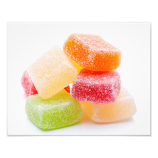 Colorful Gummy Square Sweets Photo Print