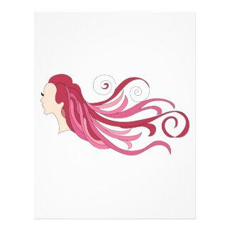 Colorful hair 21.5 cm x 28 cm flyer