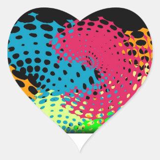 colorful halftones sticker