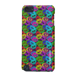 colorful halloween funny skulls with name iPod touch 5G covers