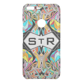 Colorful Hand Drawn Abstract I Monogram Initials Uncommon Google Pixel XL Case
