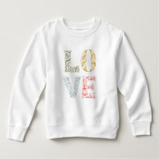 Colorful Hand-drawn Floral Love | Sweatshirt