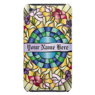 Colorful Hand-Drawn Jewel Stained Glass Flowers iPod Touch Cases