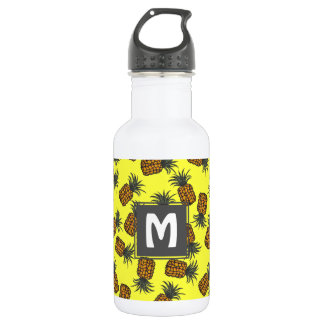 colorful hand painted tropical pineapple pattern 532 ml water bottle