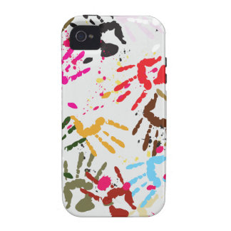 Colorful Hands iPhone 4 Cases