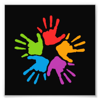 Colorful Hands Photo
