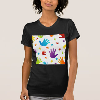 colorful hands t shirts
